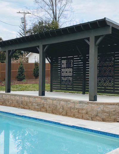 Poolside Pergola