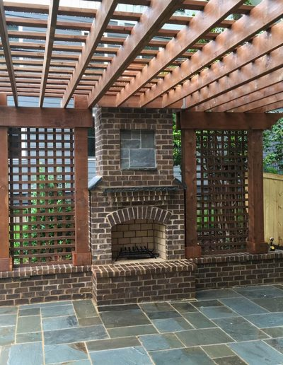 Pergola with Fireplace